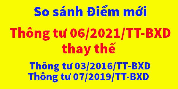 Điểm mới thông tư 06/2021/TT-BXD bộ xây dựng